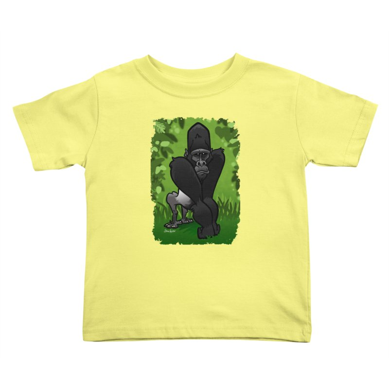 Silverback Gorilla Kids Toddler T-Shirt by binarygod's Artist Shop