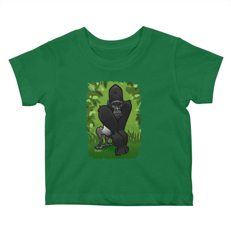 Silverback Gorilla Kids Baby T-Shirt by binarygod's Artist Shop