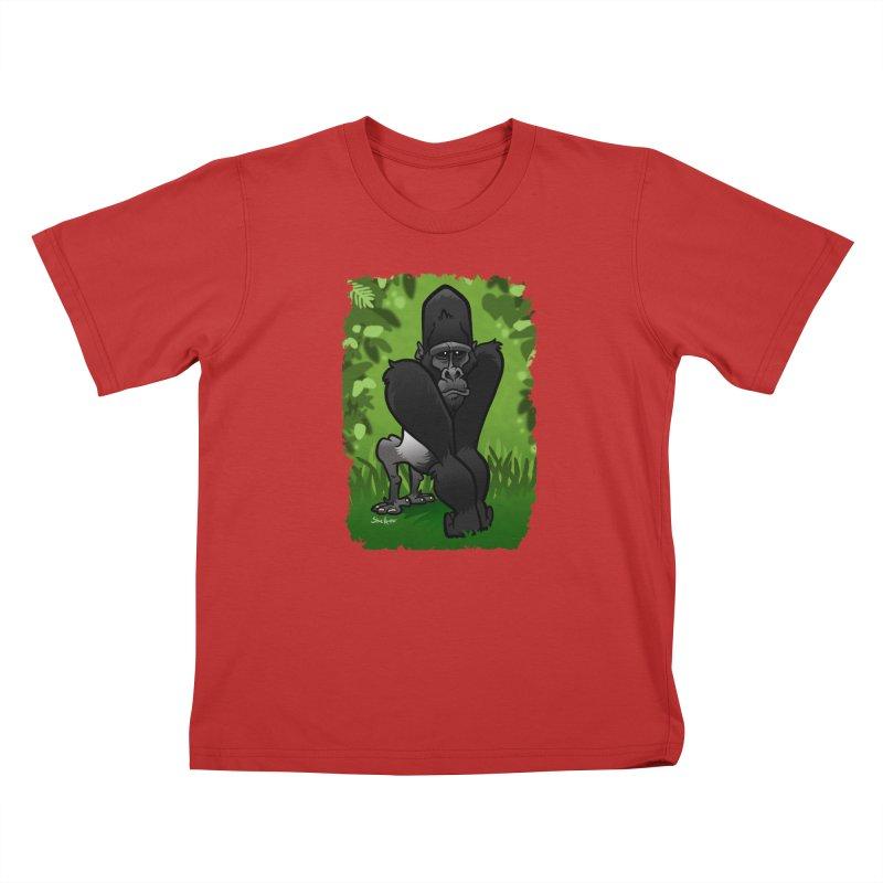 Silverback Gorilla Kids T-Shirt by binarygod's Artist Shop