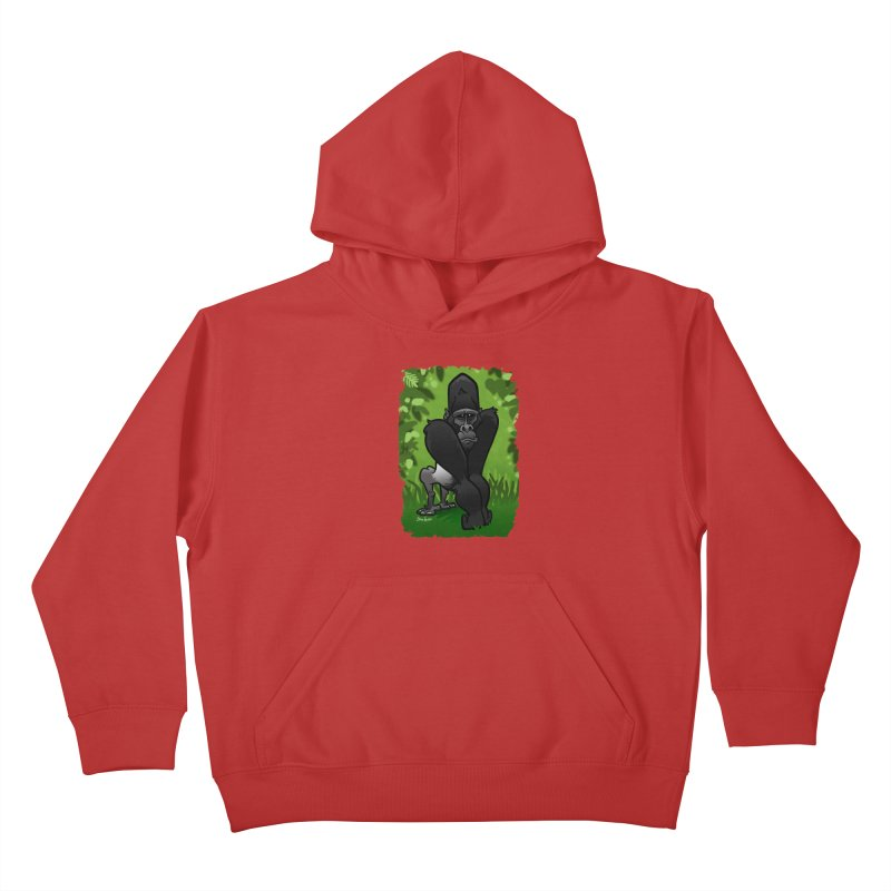 Silverback Gorilla Kids Pullover Hoody by binarygod's Artist Shop
