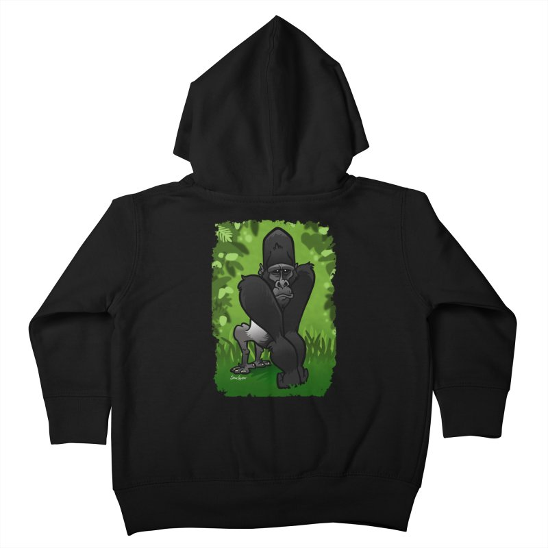 Silverback Gorilla Kids Toddler Zip-Up Hoody by binarygod's Artist Shop
