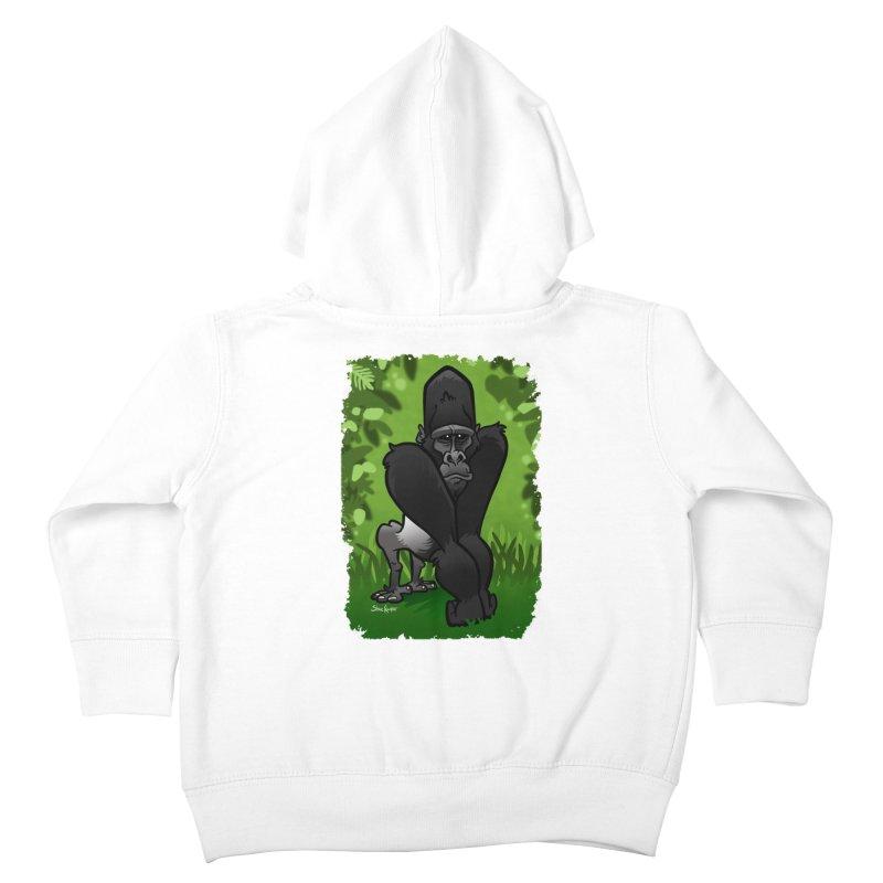 Silverback Gorilla Kids Toddler Zip-Up Hoody by binarygod's Artist Shop