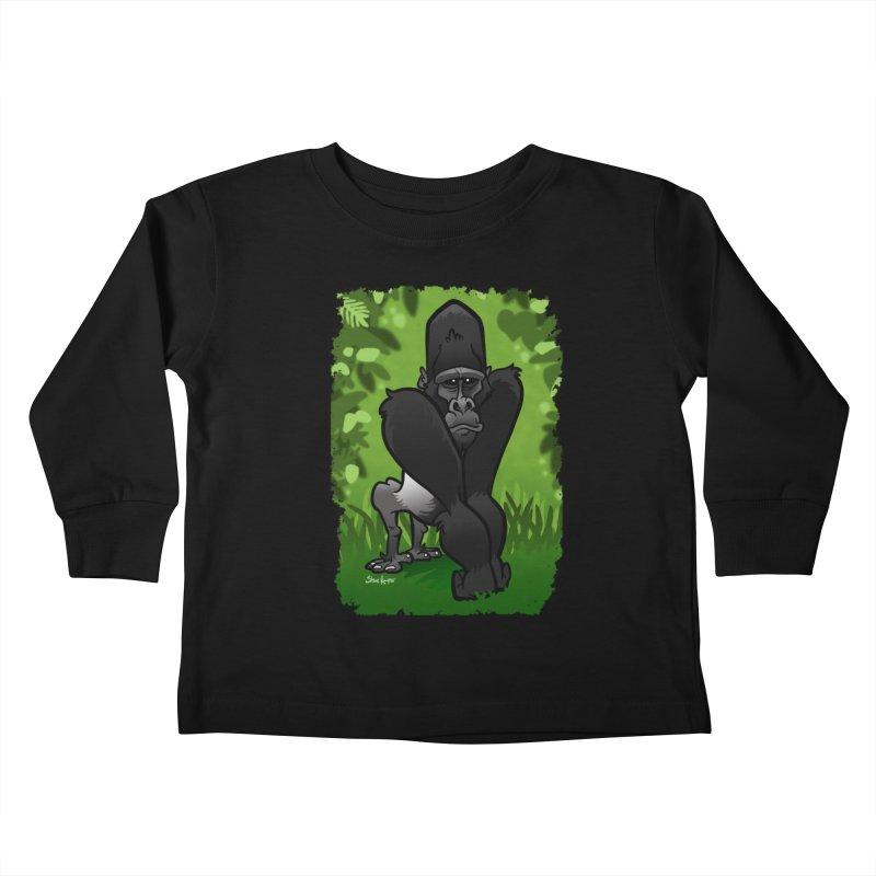 Silverback Gorilla Kids Toddler Longsleeve T-Shirt by binarygod's Artist Shop