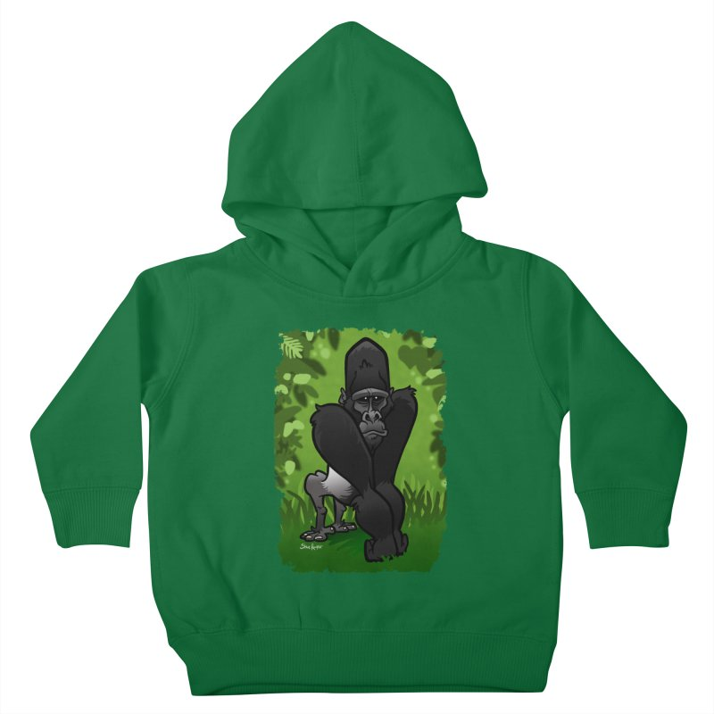 Silverback Gorilla Kids Toddler Pullover Hoody by binarygod's Artist Shop