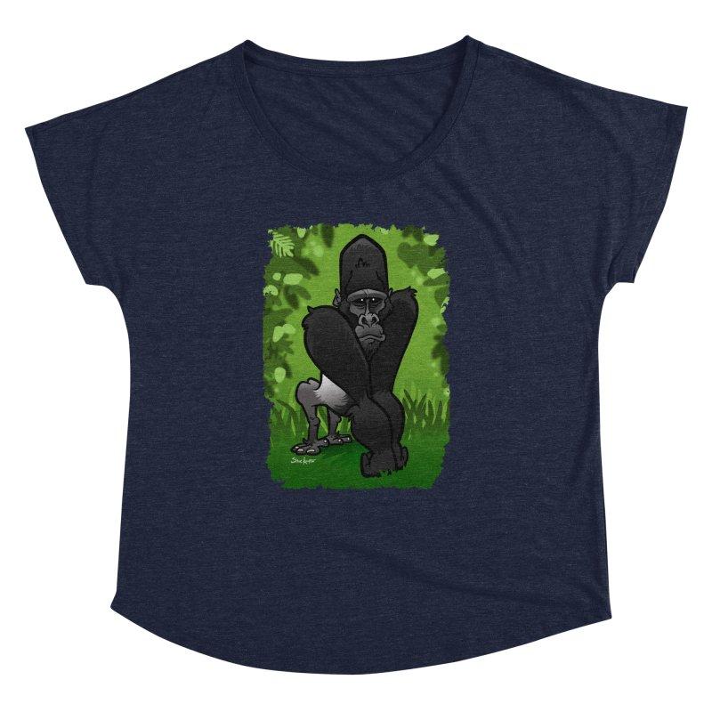 Silverback Gorilla Women's Dolman by binarygod's Artist Shop