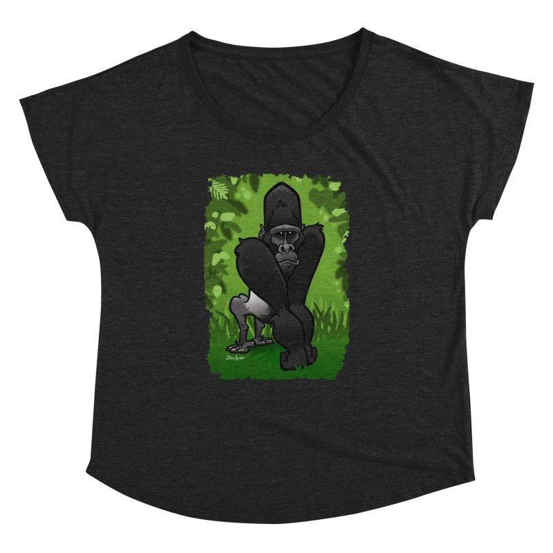 Silverback Gorilla Women's Dolman Scoop Neck by binarygod's Artist Shop