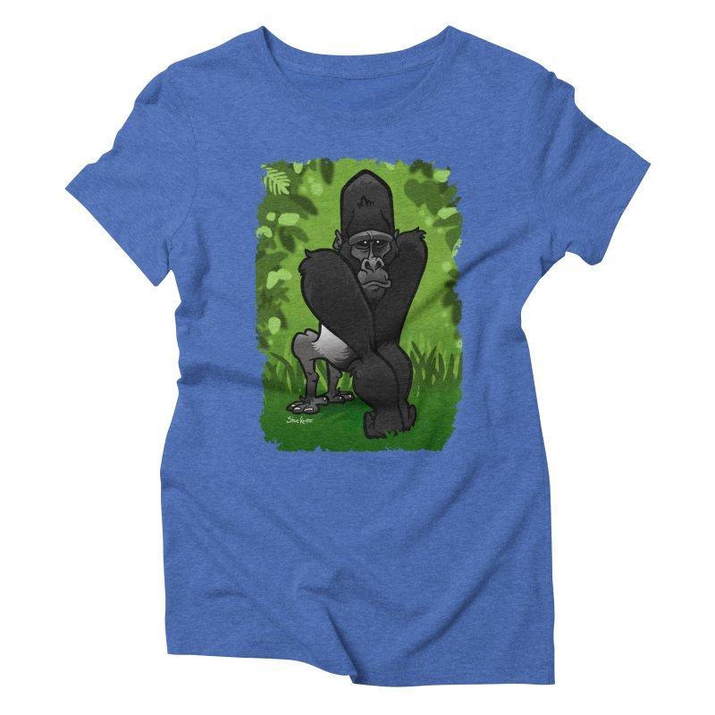 Silverback Gorilla Women's Triblend T-shirt by binarygod's Artist Shop