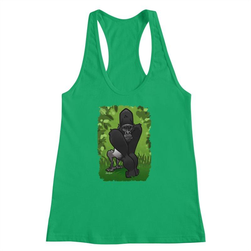 Silverback Gorilla Women's Racerback Tank by binarygod's Artist Shop