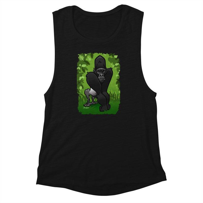Silverback Gorilla Women's Muscle Tank by binarygod's Artist Shop