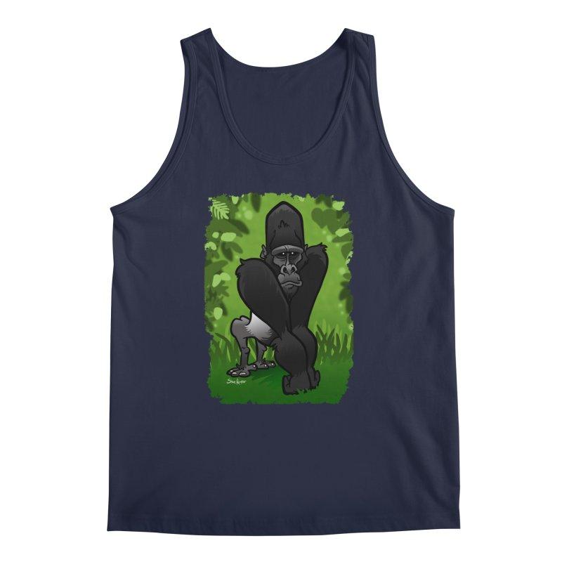 Silverback Gorilla Men's Tank by binarygod's Artist Shop