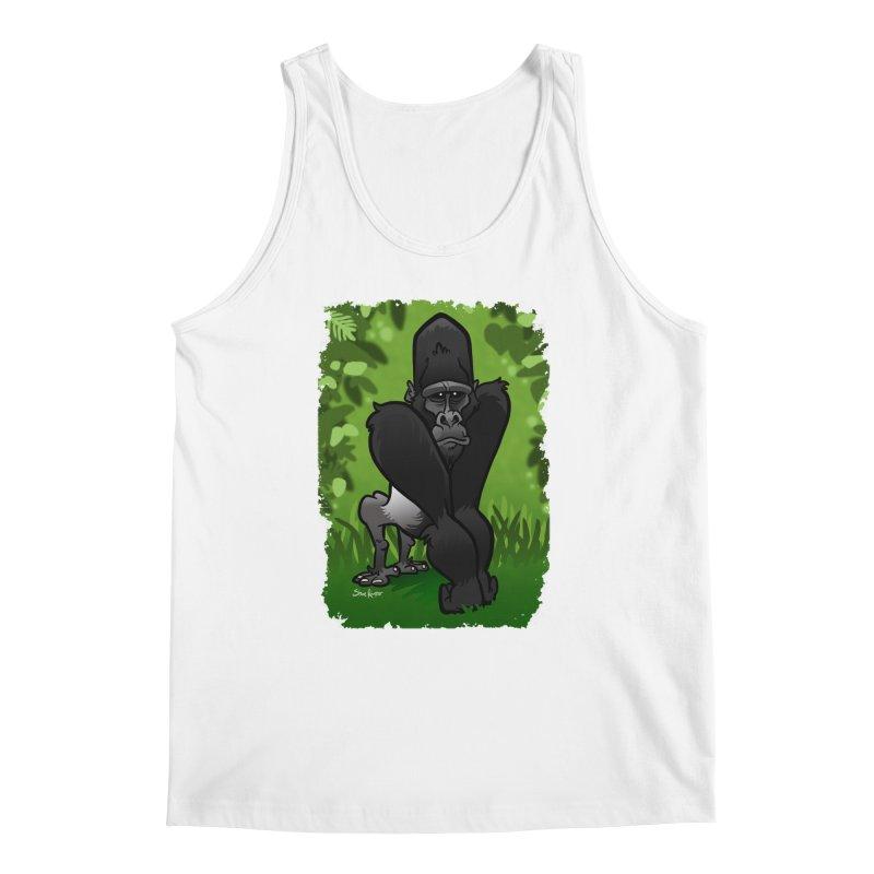 Silverback Gorilla Men's Regular Tank by binarygod's Artist Shop