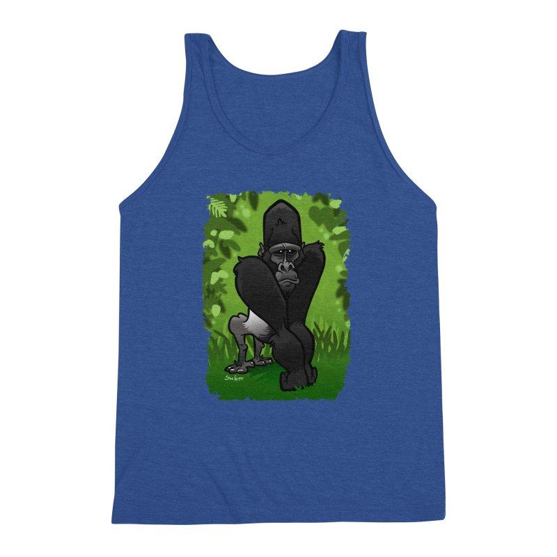 Silverback Gorilla Men's Triblend Tank by binarygod's Artist Shop