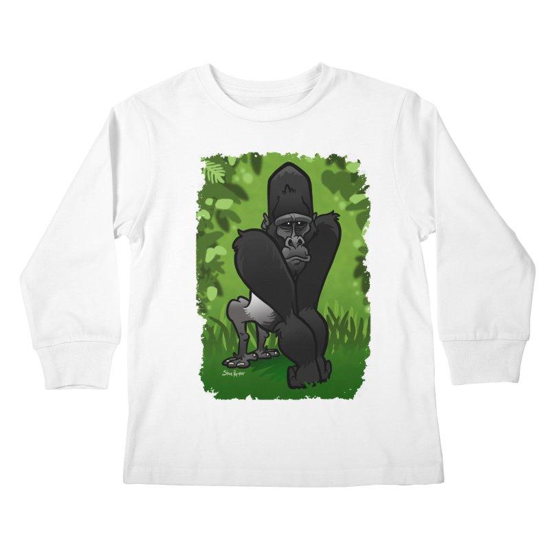 Silverback Gorilla Kids Longsleeve T-Shirt by binarygod's Artist Shop