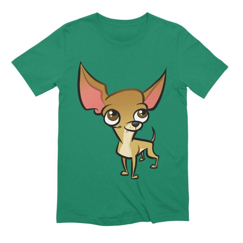 Chihuahua Men's Extra Soft T-Shirt by binarygod's Artist Shop