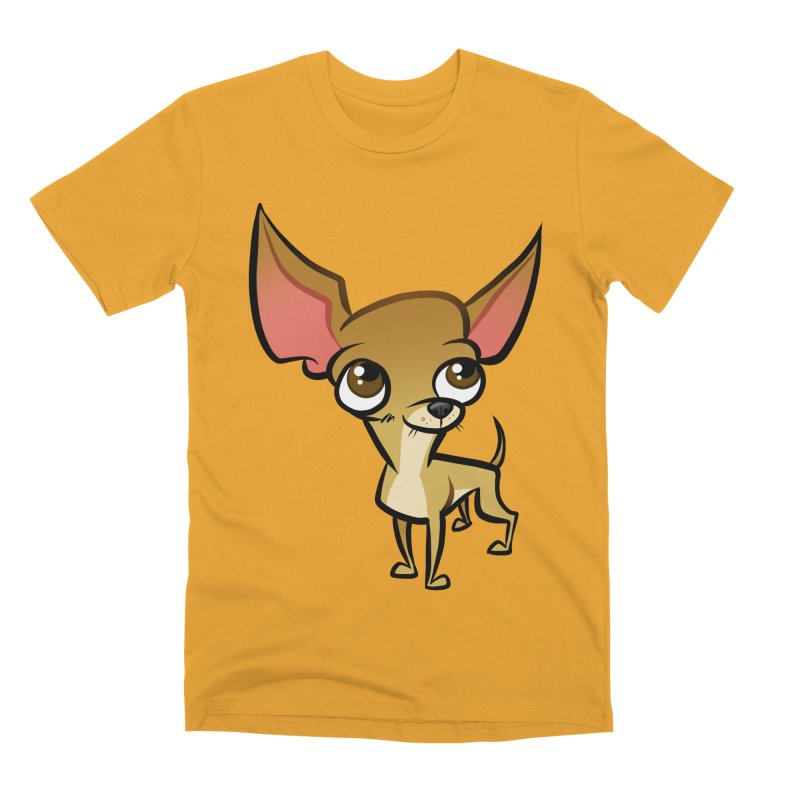 Chihuahua Men's Premium T-Shirt by binarygod's Artist Shop