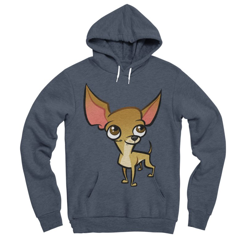 Chihuahua Men's Sponge Fleece Pullover Hoody by binarygod's Artist Shop