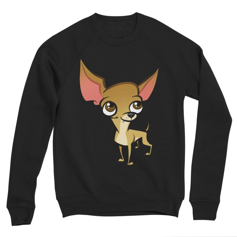 Chihuahua Men's Sponge Fleece Sweatshirt by binarygod's Artist Shop