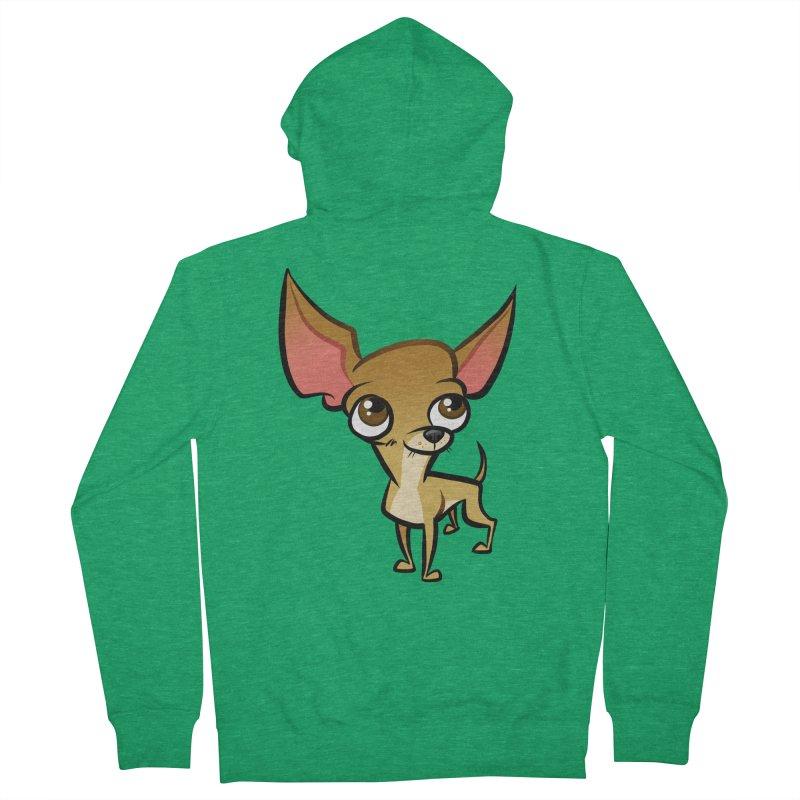 Chihuahua Men's Zip-Up Hoody by binarygod's Artist Shop