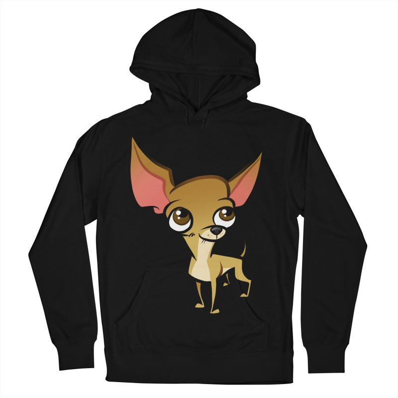 Chihuahua Women's French Terry Pullover Hoody by binarygod's Artist Shop
