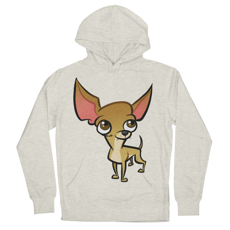 Chihuahua Men's French Terry Pullover Hoody by binarygod's Artist Shop