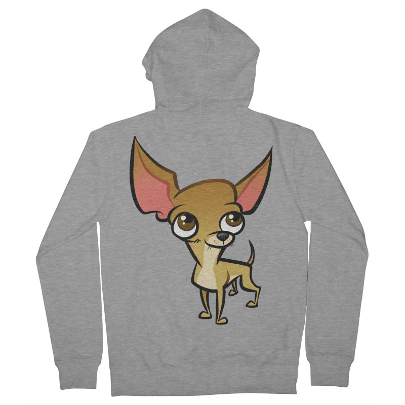 Chihuahua Women's French Terry Zip-Up Hoody by binarygod's Artist Shop