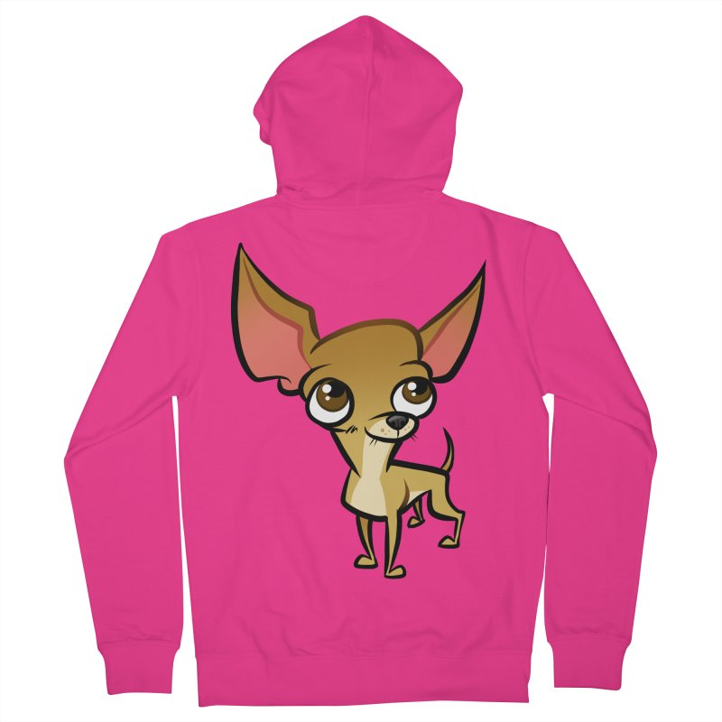 Chihuahua Men's French Terry Zip-Up Hoody by binarygod's Artist Shop