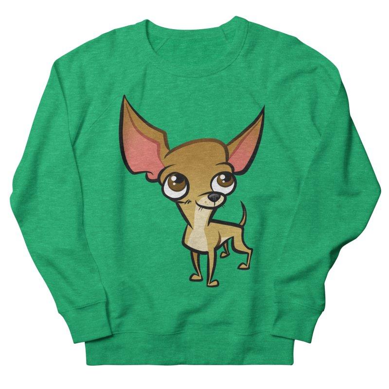 Chihuahua Women's French Terry Sweatshirt by binarygod's Artist Shop
