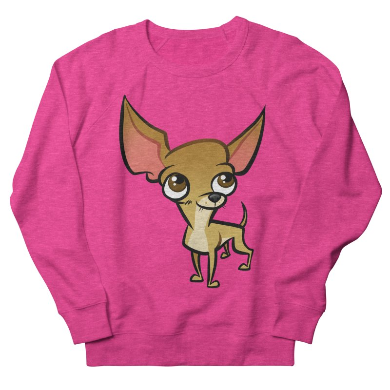 Chihuahua Women's French Terry Sweatshirt by binarygod's Artist Shop