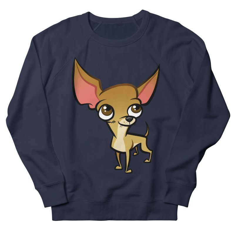 Chihuahua Men's French Terry Sweatshirt by binarygod's Artist Shop