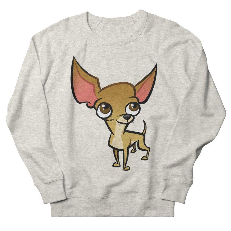 Chihuahua Men's French Terry Sweatshirt by binarygod's Artist Shop