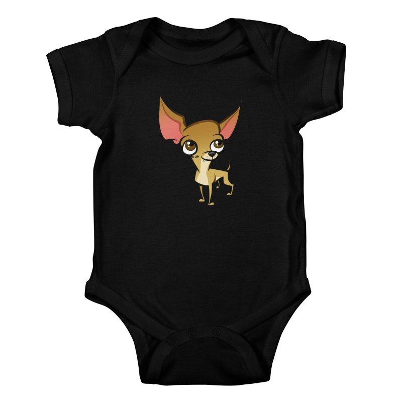 Chihuahua Kids Baby Bodysuit by binarygod's Artist Shop