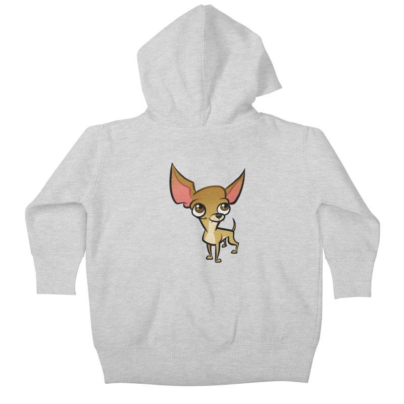 Chihuahua Kids Baby Zip-Up Hoody by binarygod's Artist Shop