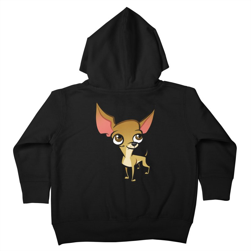 Chihuahua Kids Toddler Zip-Up Hoody by binarygod's Artist Shop