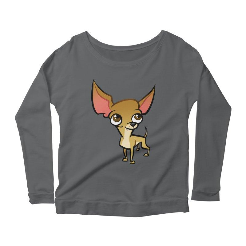 Chihuahua Women's Scoop Neck Longsleeve T-Shirt by binarygod's Artist Shop