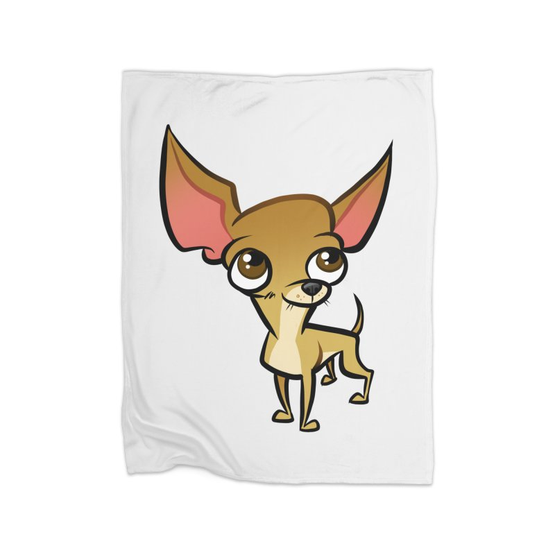 Chihuahua Home Fleece Blanket Blanket by binarygod's Artist Shop
