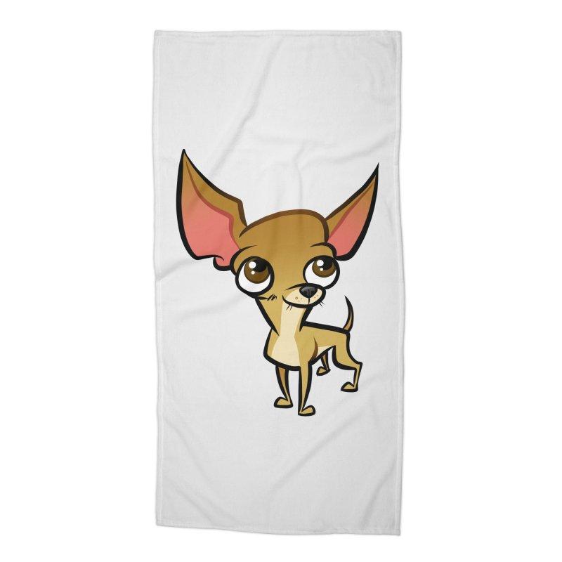 Chihuahua Accessories Beach Towel by binarygod's Artist Shop