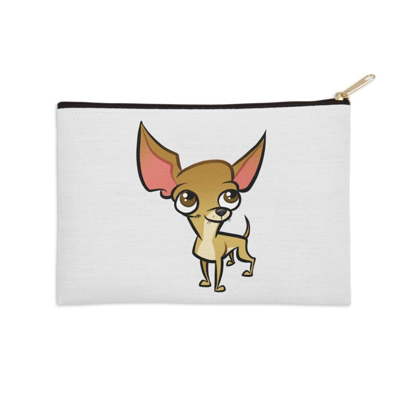 Chihuahua Accessories Zip Pouch by binarygod's Artist Shop