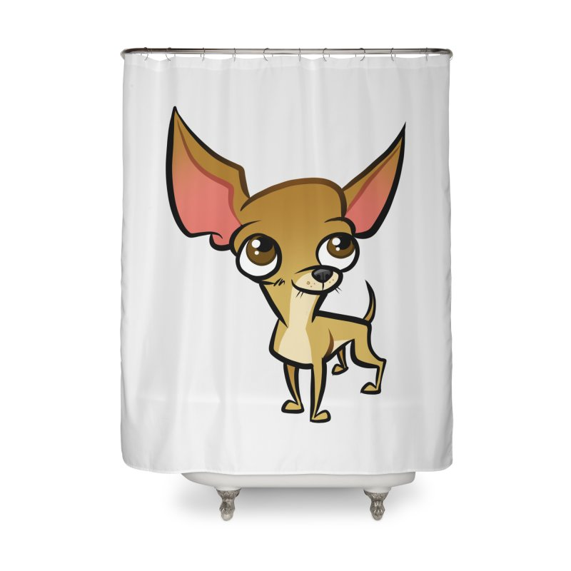 Chihuahua Home Shower Curtain by binarygod's Artist Shop