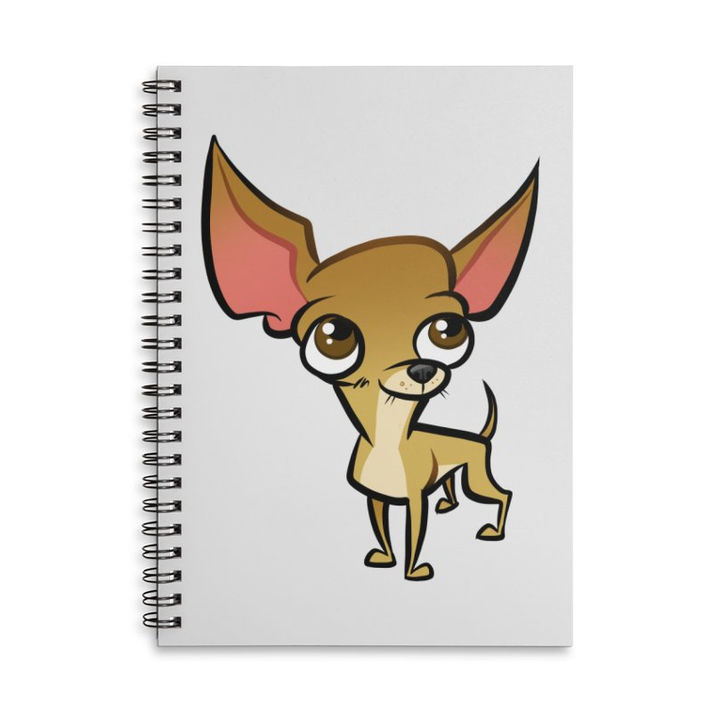 Chihuahua Accessories Lined Spiral Notebook by binarygod's Artist Shop