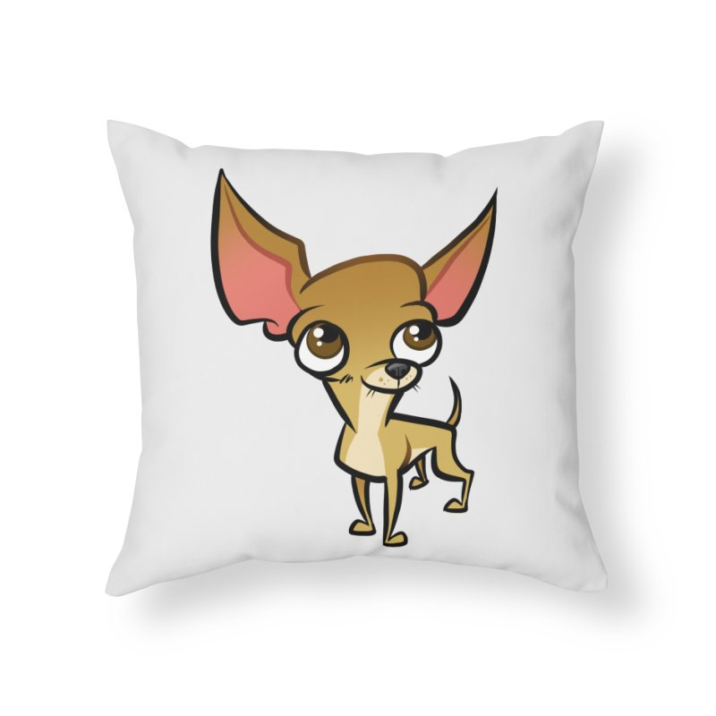 Chihuahua Home Throw Pillow by binarygod's Artist Shop