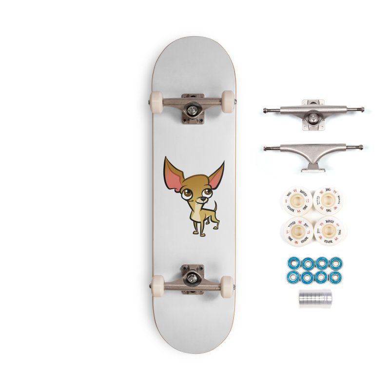 Chihuahua Accessories Complete - Premium Skateboard by binarygod's Artist Shop