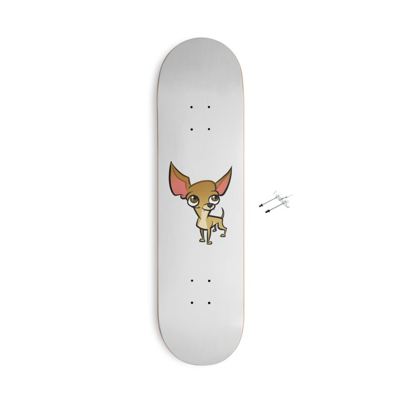 Chihuahua Accessories With Hanging Hardware Skateboard by binarygod's Artist Shop