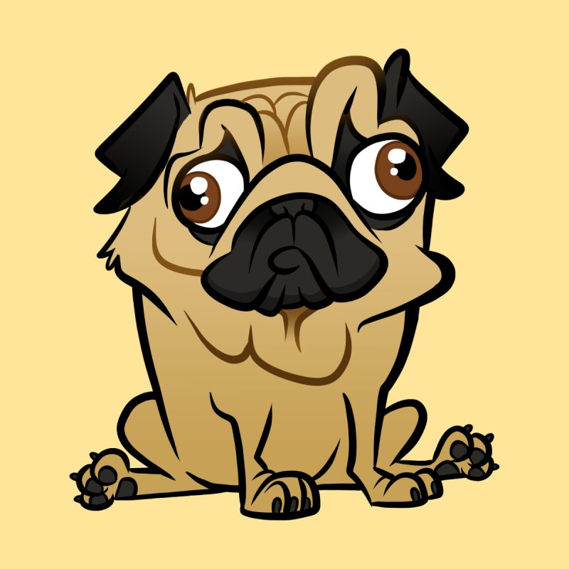 Pug Men's T-Shirt by binarygod's Artist Shop