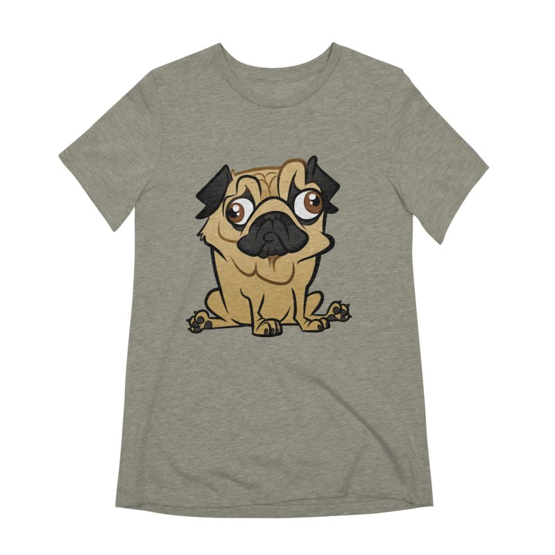 Pug Women's Extra Soft T-Shirt by binarygod's Artist Shop