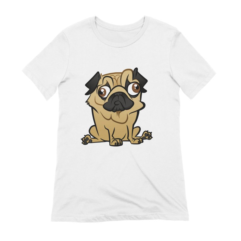 Pug Women's Extra Soft T-Shirt by binarygod's Artist Shop