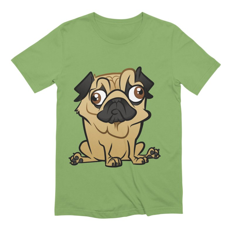 Pug Men's Extra Soft T-Shirt by binarygod's Artist Shop