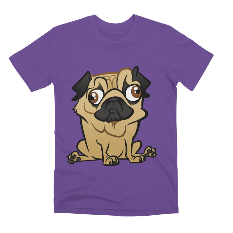 Pug Men's Premium T-Shirt by binarygod's Artist Shop