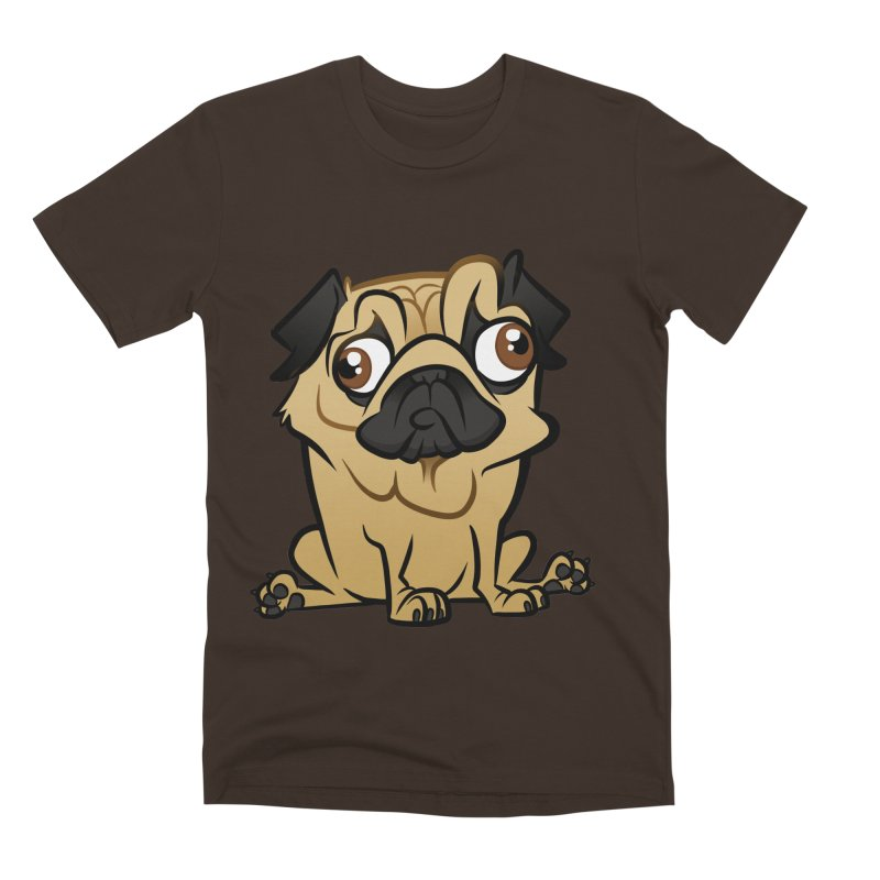 Pug Men's Premium T-Shirt by binarygod's Artist Shop