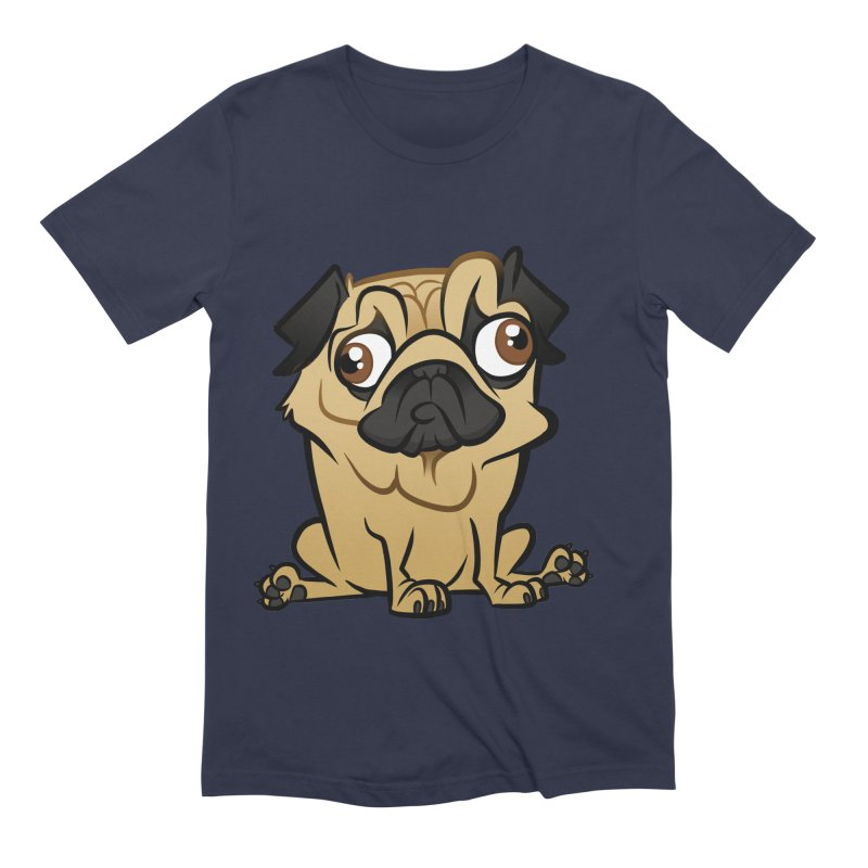 Pug Men's Extra Soft T-Shirt by binarygod's Artist Shop