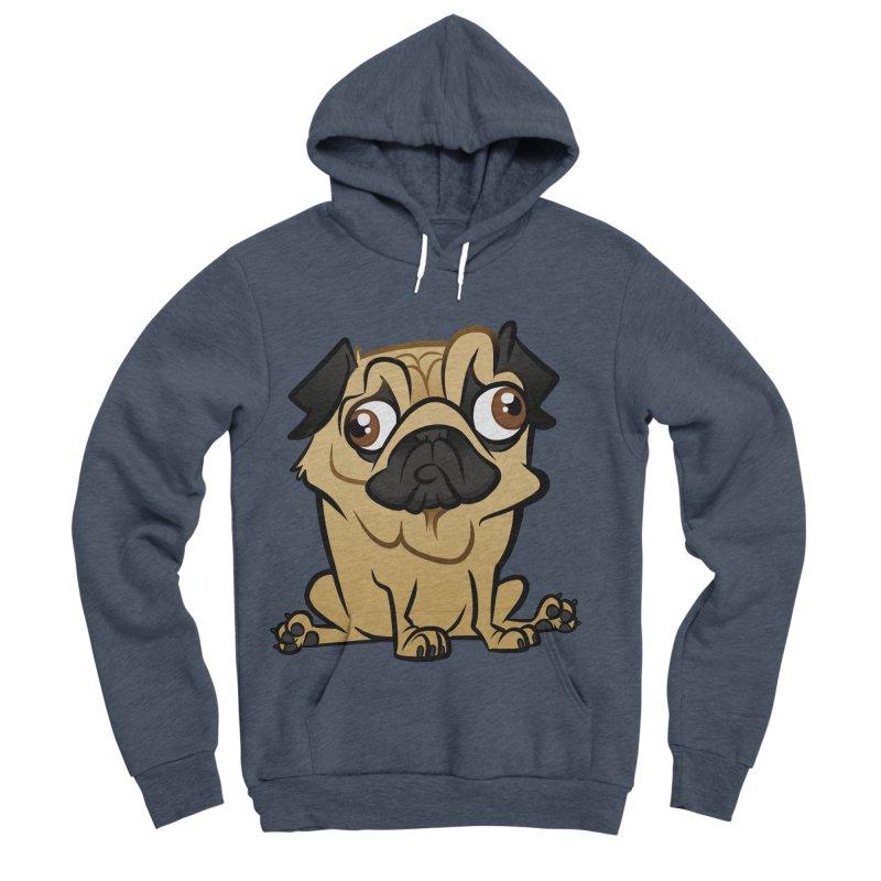 Pug Men's Sponge Fleece Pullover Hoody by binarygod's Artist Shop